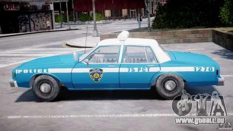 Chevrolet Impala Police 1983 v2.0 für GTA 4 Seitenansicht