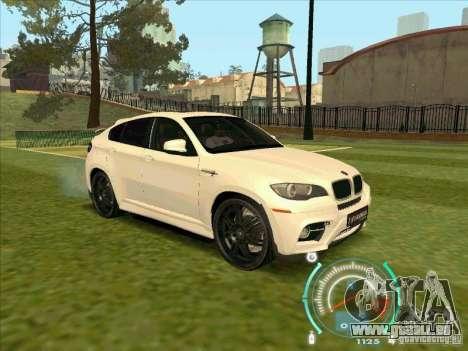 BMW X6 M Hamann Design für GTA San Andreas rechten Ansicht