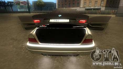 BMW E46 M3 Coupe 2004M pour GTA San Andreas vue intérieure