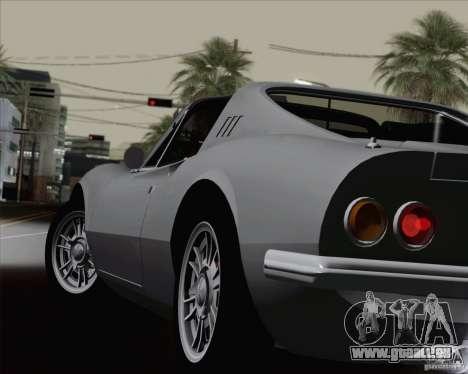 Ferrari 246 Dino GTS pour GTA San Andreas vue de dessous