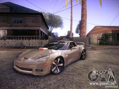 Chevrolet Corvette C6 Z06 Tuning pour GTA San Andreas laissé vue