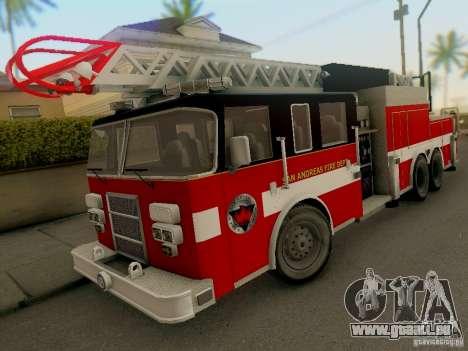 Pierce Firetruck Ladder SA Fire Department pour GTA San Andreas
