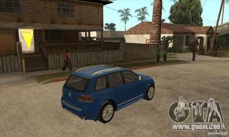 Volkswagen Touareg R50 pour GTA San Andreas vue de droite