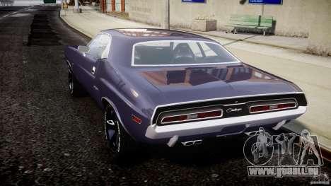 Dodge Challenger 1971 für GTA 4 hinten links Ansicht