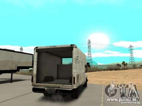 New Benson pour GTA San Andreas sur la vue arrière gauche