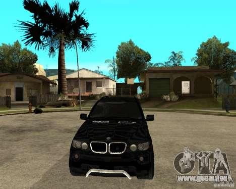 BMW X5 pour GTA San Andreas vue arrière