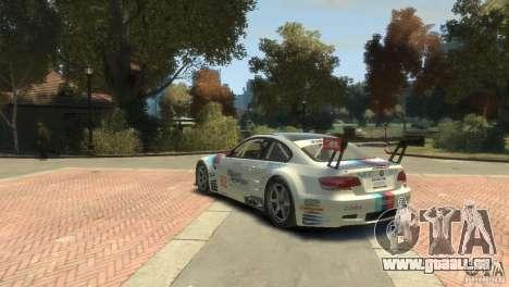 BMW M3 Gt2 pour GTA 4 Vue arrière de la gauche