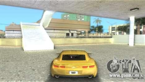 Chevrolet Camaro pour GTA Vice City sur la vue arrière gauche