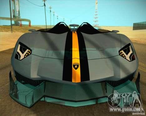 Lamborghini Aventador J pour GTA San Andreas vue de côté