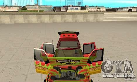 Ford Explorer (Jurassic Park) für GTA San Andreas Innenansicht
