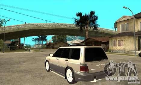 Subaru Forester 1997 année pour GTA San Andreas sur la vue arrière gauche