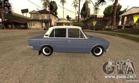 VAZ 2106 anciens v2.0 pour GTA San Andreas vue de dessus