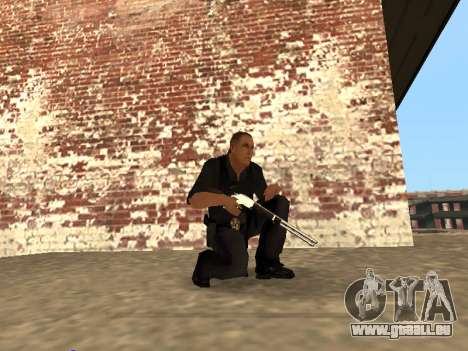 Chrome and Blue Weapons Pack pour GTA San Andreas cinquième écran
