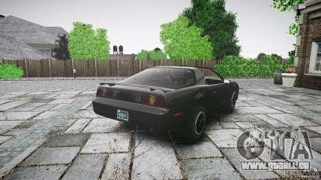KITT Knight Rider pour GTA 4 vue de dessus