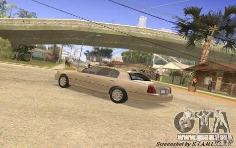 Lincoln Towncar Secret Service pour GTA San Andreas vue intérieure