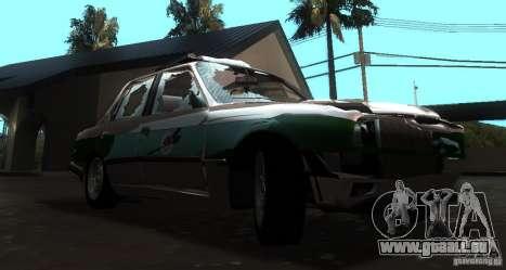 BMW E30 Sedan Police pour GTA San Andreas vue arrière