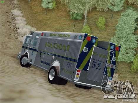 Pierce Fire Rescues. Bone County Hazmat für GTA San Andreas Innenansicht
