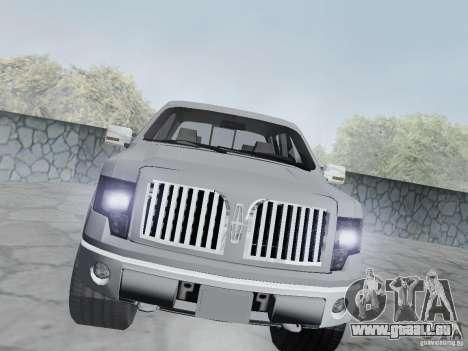Lincoln Mark LT 2013 für GTA San Andreas Rückansicht