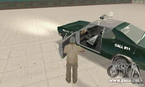 Plymouth Duster 340 Police für GTA San Andreas Rückansicht