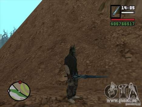 Frostmorn-épée de WoW Lich King pour GTA San Andreas quatrième écran