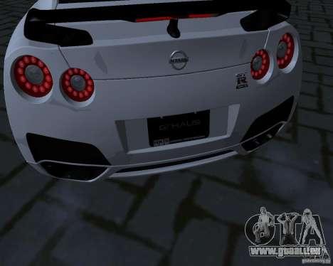 Nissan GTR-35 Spec-V pour GTA San Andreas vue intérieure