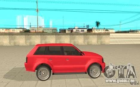 Huntley Sport de GTA 4 pour GTA San Andreas laissé vue