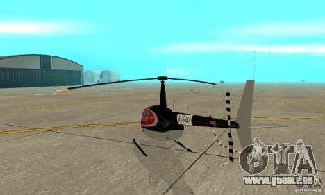 Robinson R44 Raven II NC 1.0 2 la peau pour GTA San Andreas vue de droite