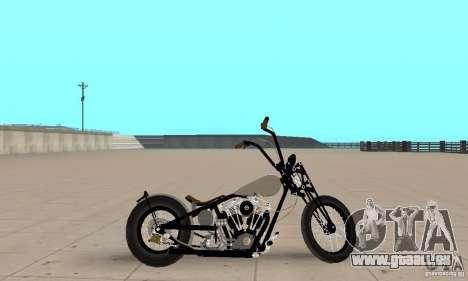 Chopper Shovel HD v2.1-chrome pour GTA San Andreas sur la vue arrière gauche