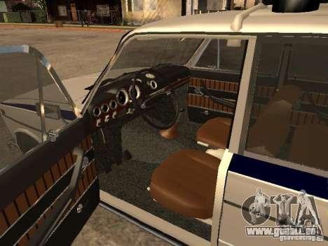 Police Vaz 2103 pour GTA San Andreas sur la vue arrière gauche