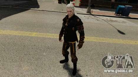 Geralt de Rivia v3 pour GTA 4 cinquième écran
