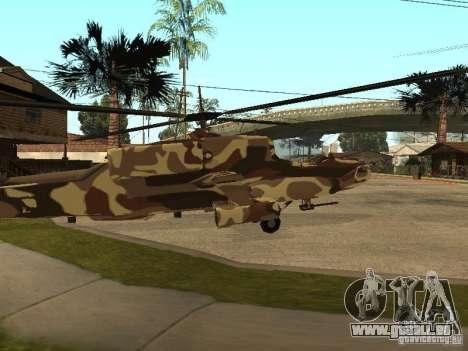 Nouvelles Textures pour le chasseur pour GTA San Andreas sur la vue arrière gauche