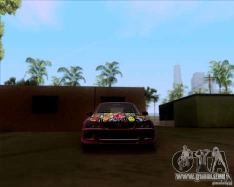 Lexus IS300 Hella Flush pour GTA San Andreas vue de dessus
