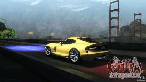 Dodge SRT Viper GTS 2012 V1.0 pour GTA San Andreas vue de côté