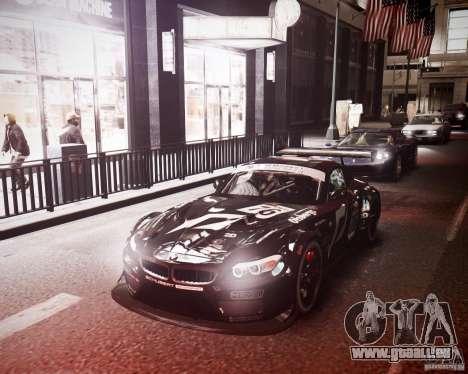 BMW Z4 GT3 2010 pour GTA 4 est une vue de dessous