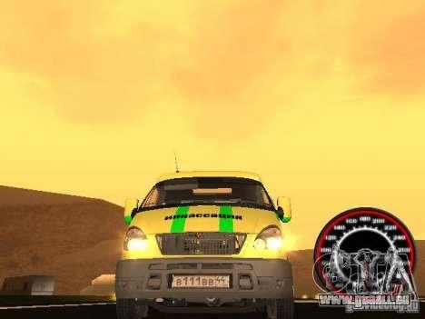 Gazelle du collecteur pour GTA San Andreas vue intérieure