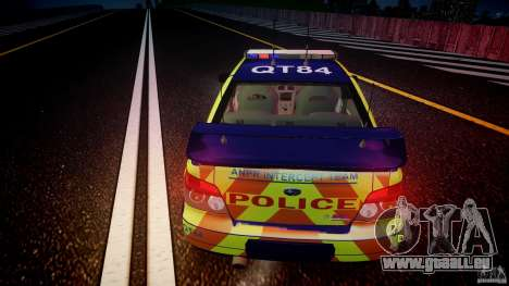 Subaru Impreza WRX Police [ELS] für GTA 4 obere Ansicht