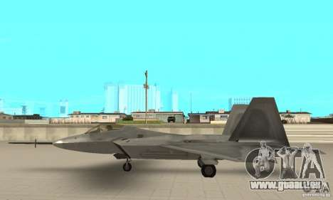 YF-22 Grey pour GTA San Andreas laissé vue
