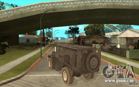 Military Truck für GTA San Andreas rechten Ansicht