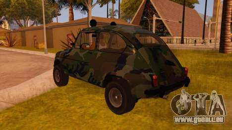 Zastava 750 4x4 Camo pour GTA San Andreas sur la vue arrière gauche