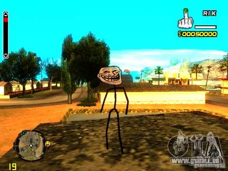 TrollFace skin pour GTA San Andreas deuxième écran