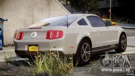 Ford Mustang V6 2010 Premium v1.0 pour GTA 4 vue de dessus