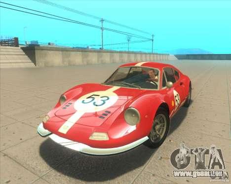 Ferrari Dino 246 GT für GTA San Andreas Rückansicht