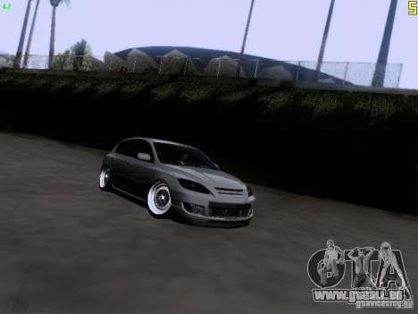 Mazda Speed 3 Stance pour GTA San Andreas vue arrière