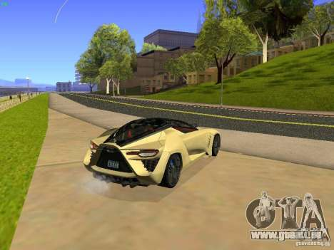 Bertone Mantide für GTA San Andreas zurück linke Ansicht
