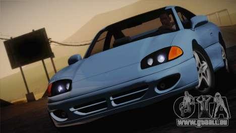 Dodge Stealth RT Twin Turbo 1994 pour GTA San Andreas vue de dessus
