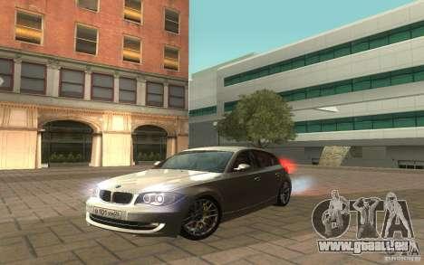 BMW 120i pour GTA San Andreas vue de droite