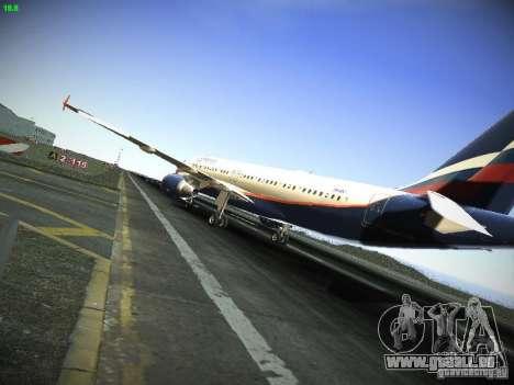 Aeroflot Russian Airlines Airbus A320 pour GTA San Andreas sur la vue arrière gauche