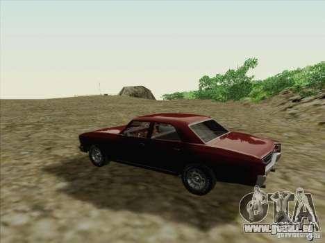 Chevrolet Chevelle pour GTA San Andreas vue de droite