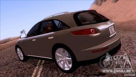 Infiniti FX45 2007 pour GTA San Andreas vue de droite