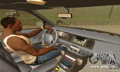 Ford Crown Victoria New Corolina Police für GTA San Andreas zurück linke Ansicht